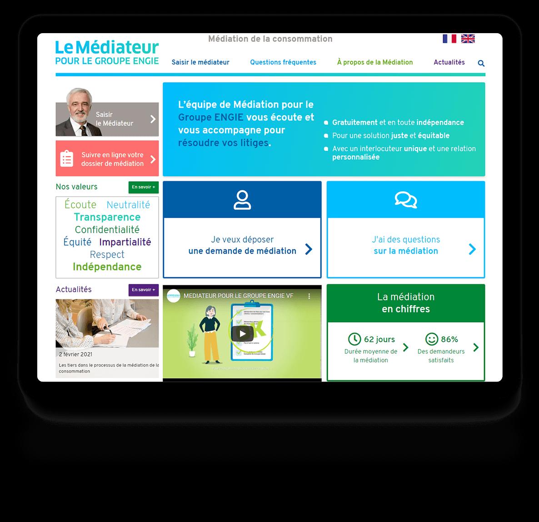 Site web du Médiateur pour le Groupe ENGIE